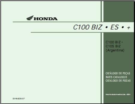 MANUAL PEÇAS BIZ 100 04-05