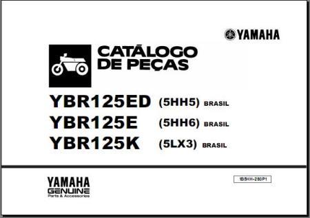 MANUAL PEÇAS YBR 125 ED,E,K 2003